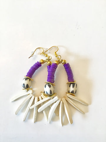 Earrings | Purple