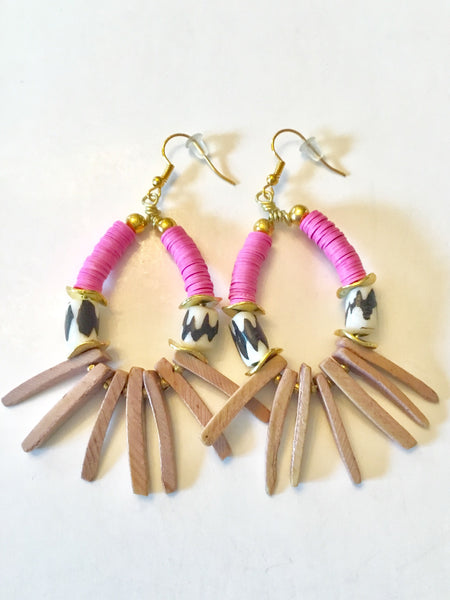 Earrings | Pink