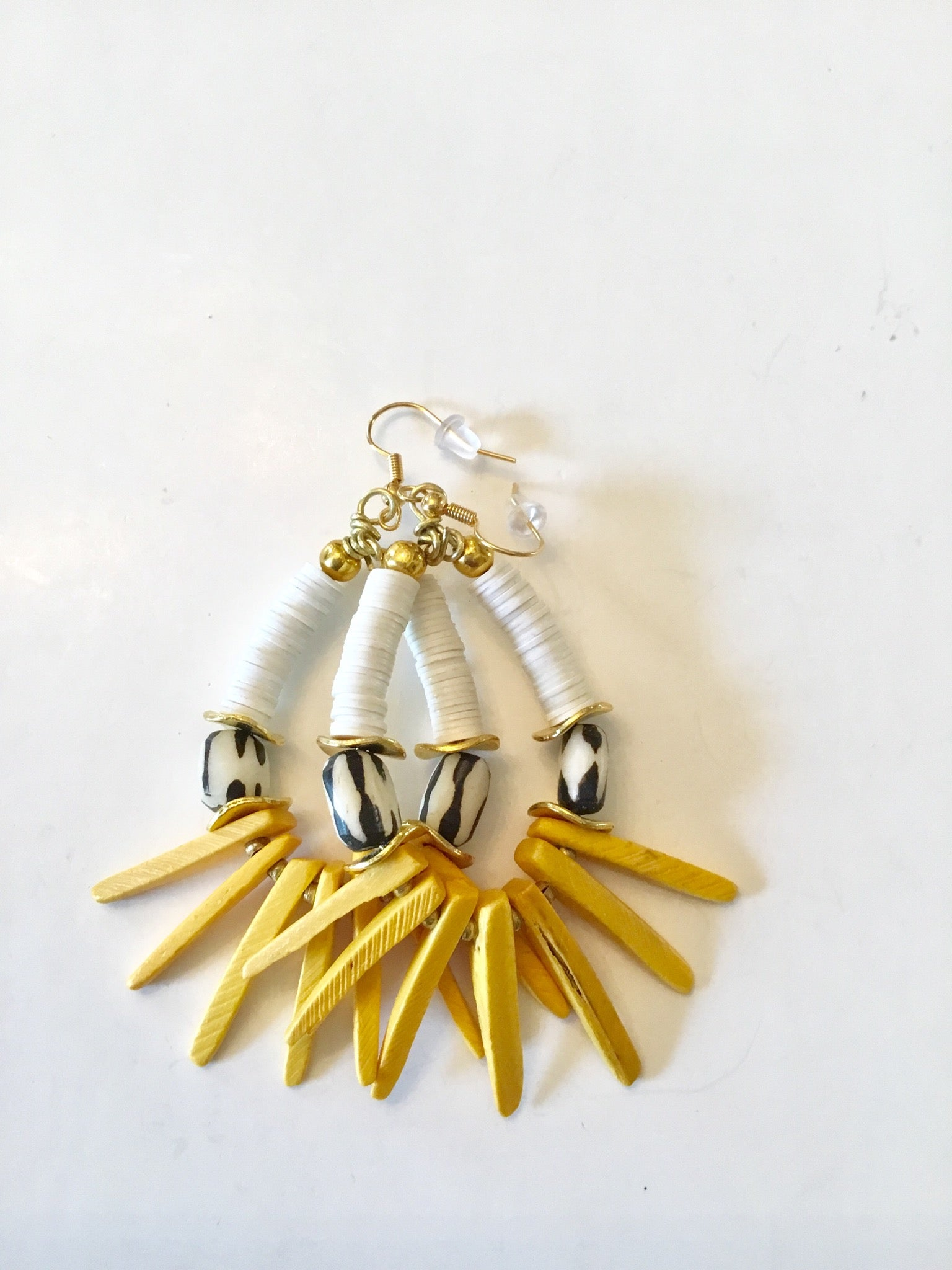 Earrings | Yellow & White