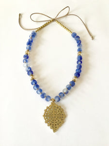 Ethiopian Collection Necklace | Indigo