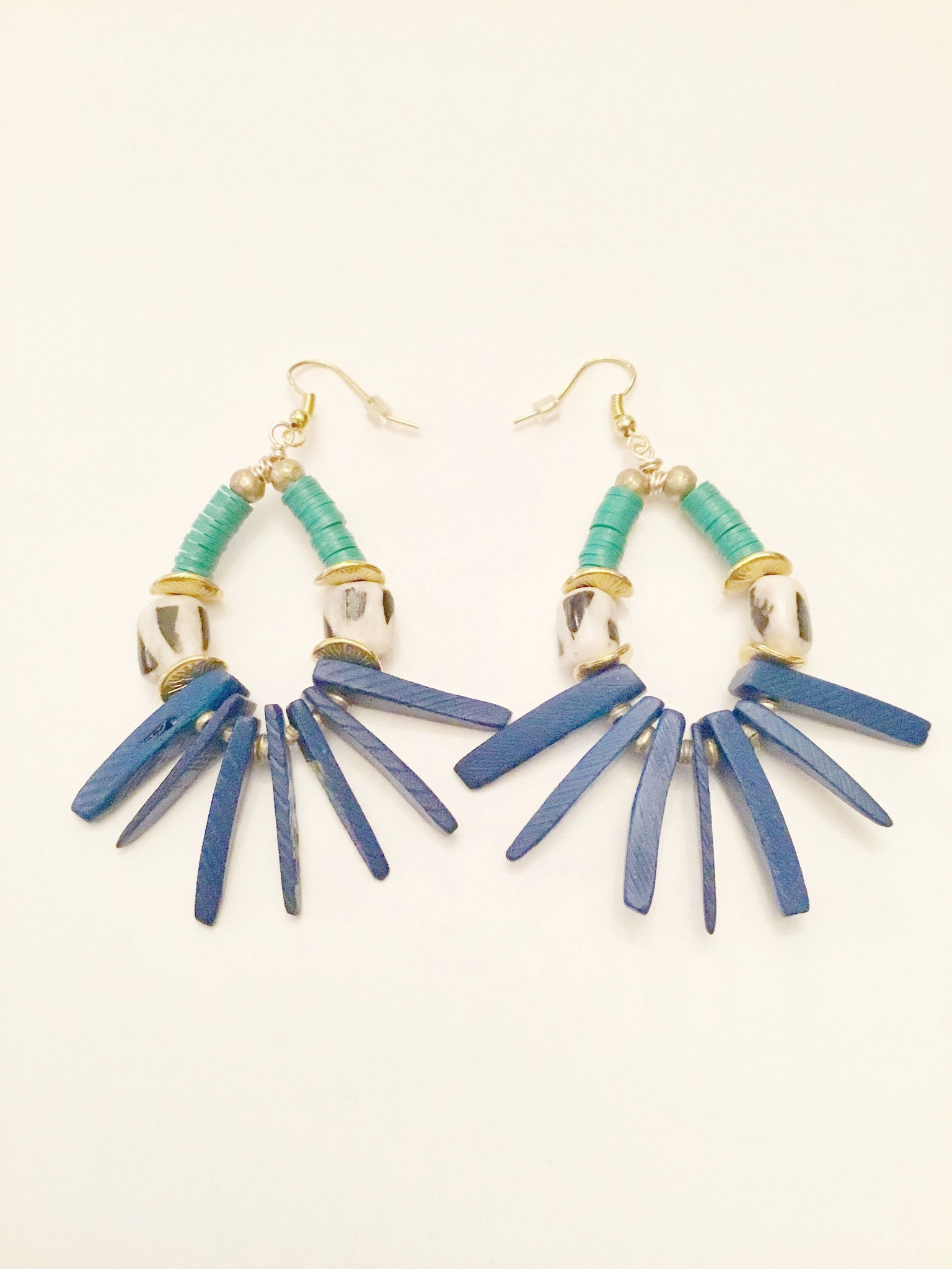 Ethopian Earrings E-0364, designed by Leyu Ambare Handmade Jewelry.