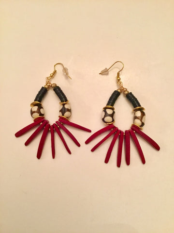 Ethopian Earrings E-0365, designed by Leyu Ambare Handmade Jewelry.