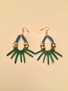 Ethopian Earrings E-0367, designed by Leyu Ambare Handmade Jewelry.