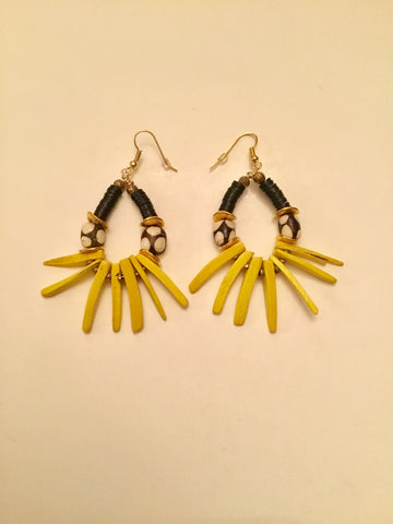 Ethopian Earrings E-0368, designed by Leyu Ambare Handmade Jewelry.