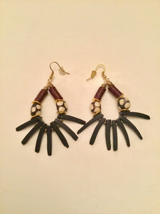 Ethopian Earrings E-0369, designed by Leyu Ambare Handmade Jewelry.