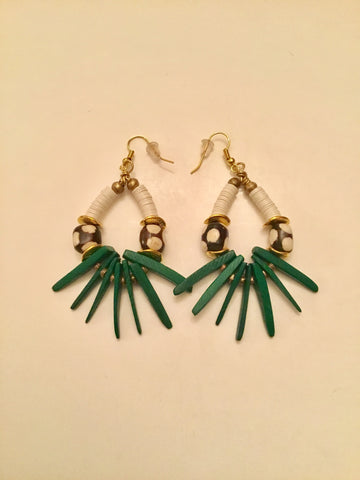 Ethopian Earrings E-0371, designed by Leyu Ambare Handmade Jewelry.