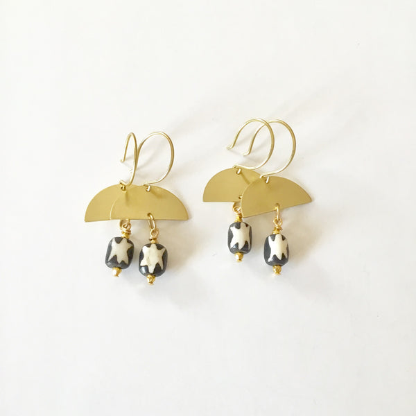 Cresecent Tribal Earrings