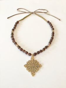 Ethopian Necklace N-0275, designed by Leyu Ambare Handmade Jewelry.