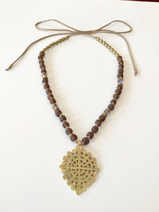 Ethopian Necklace N-0276, designed by Leyu Ambare Handmade Jewelry.