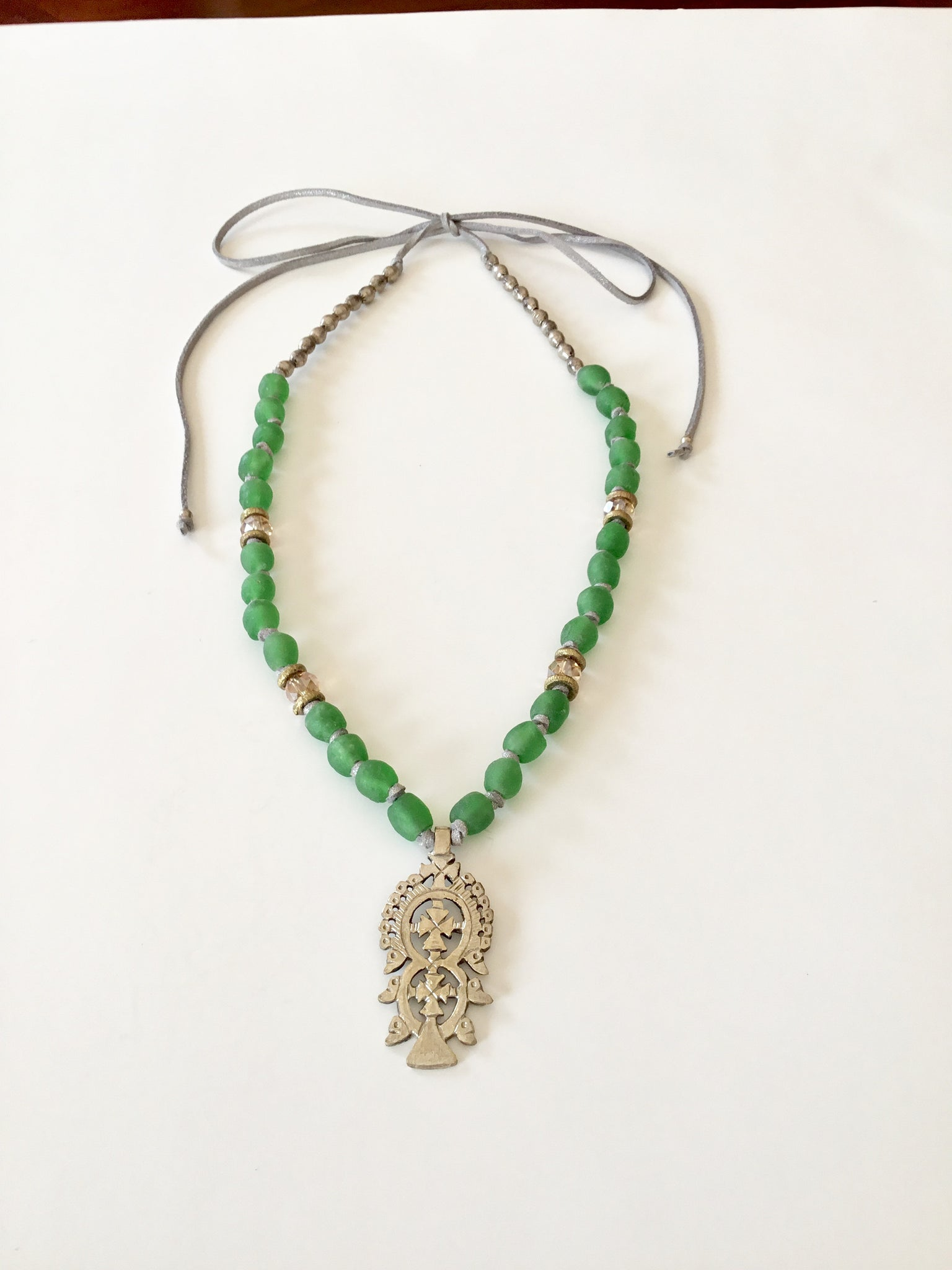 Ethopian Necklace N-0284, designed by Leyu Ambare Handmade Jewelry.