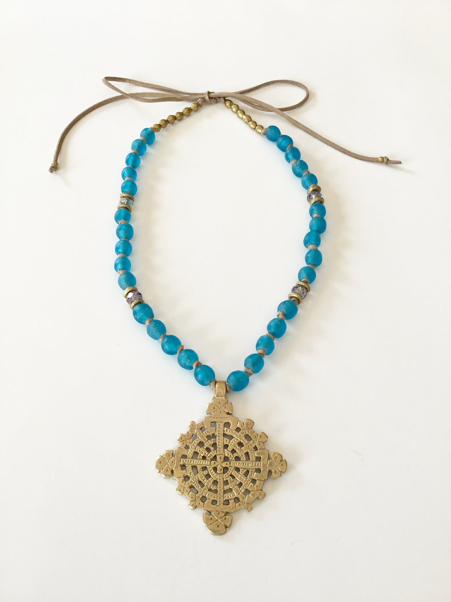 Ethopian Necklace N-0286, designed by Leyu Ambare Handmade Jewelry.