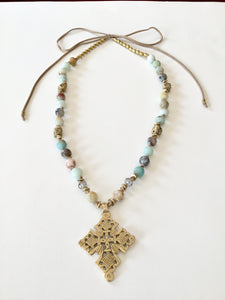 Ethopian Necklace N-0287, designed by Leyu Ambare Handmade Jewelry.