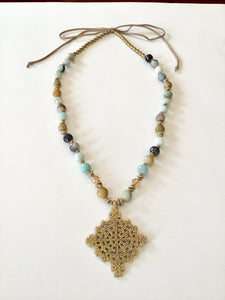 Ethopian Necklace N-0289, designed by Leyu Ambare Handmade Jewelry.