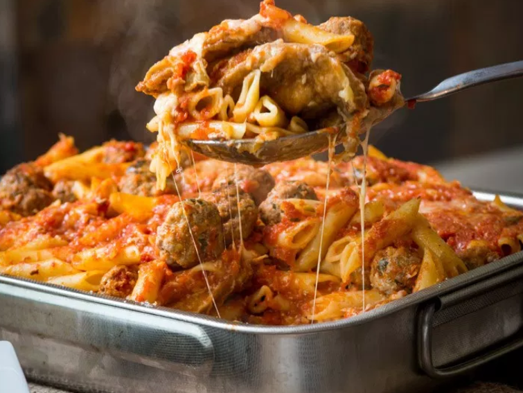 Pasta Al Forno- Baked Pasta With Eggplant Parm