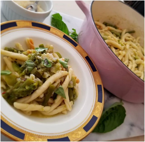Pasta with Fresh Fava Beans and Asparagus-Consiglio's Kitchenware