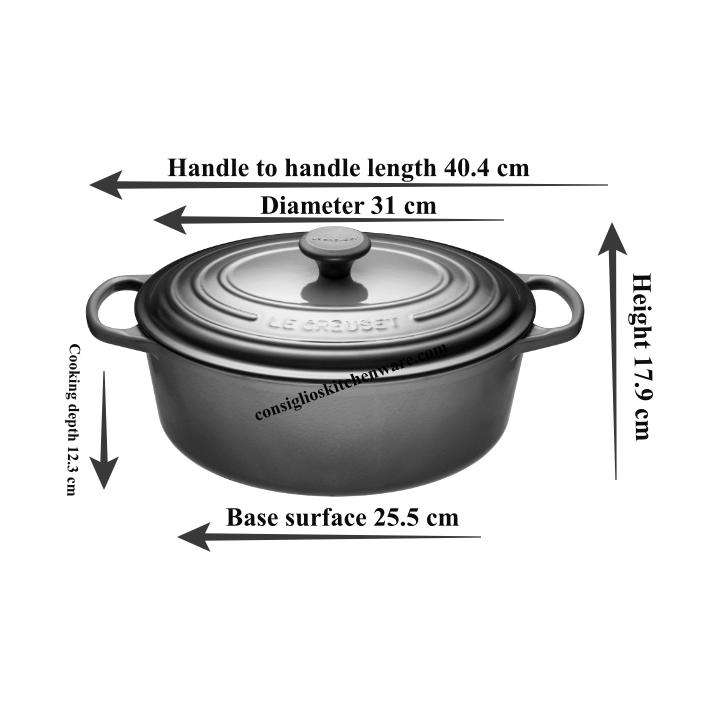 Le Creuset 6.3L Blueberry Oval French/Dutch Oven (31 cm) -LS2502-3192