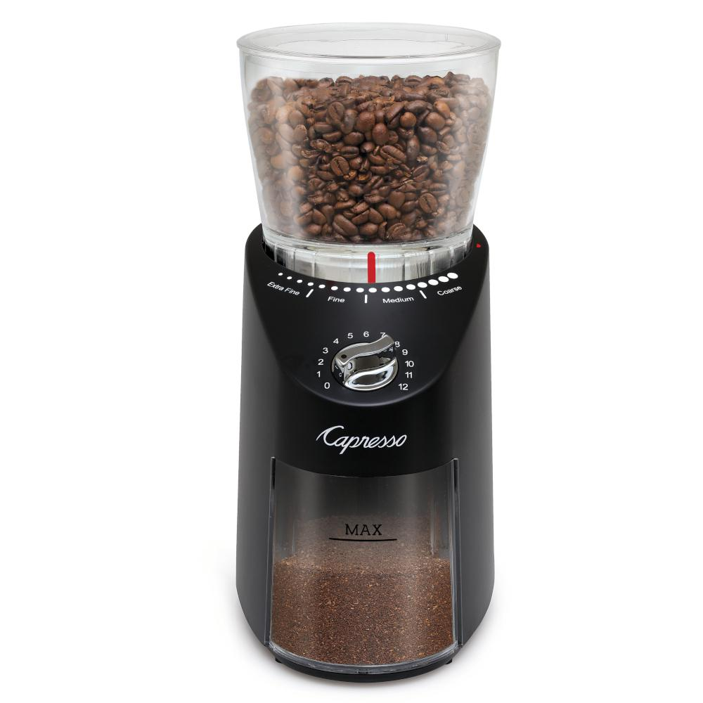 Infinity Plus Capresso Conical Burr Grinder Black