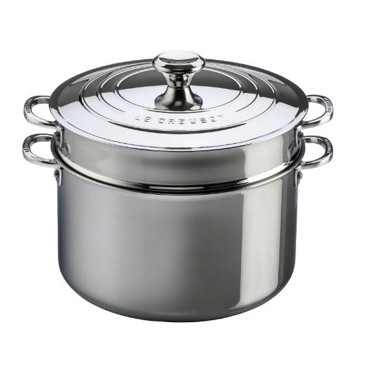 Le Creuset Stainless Steel Stockpot with Pasta Insert 8.5L / 9QT - 26CM  / 10""