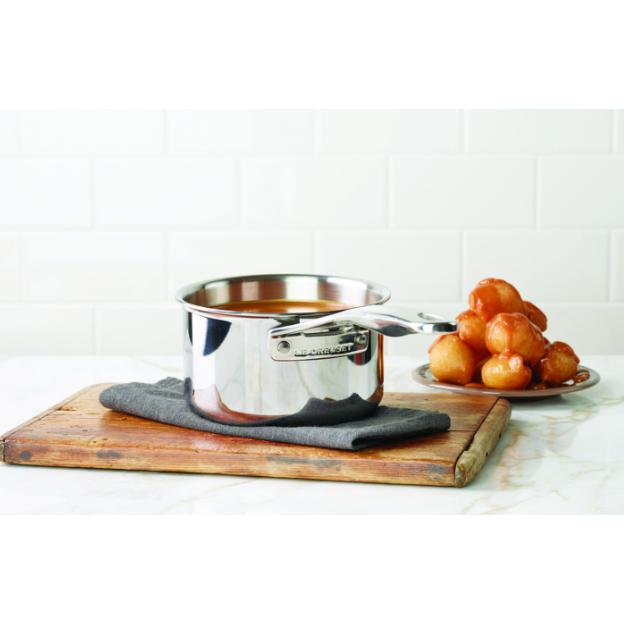 Le Creuset Stainless Steel Saucepan 20cm - Front View Canada