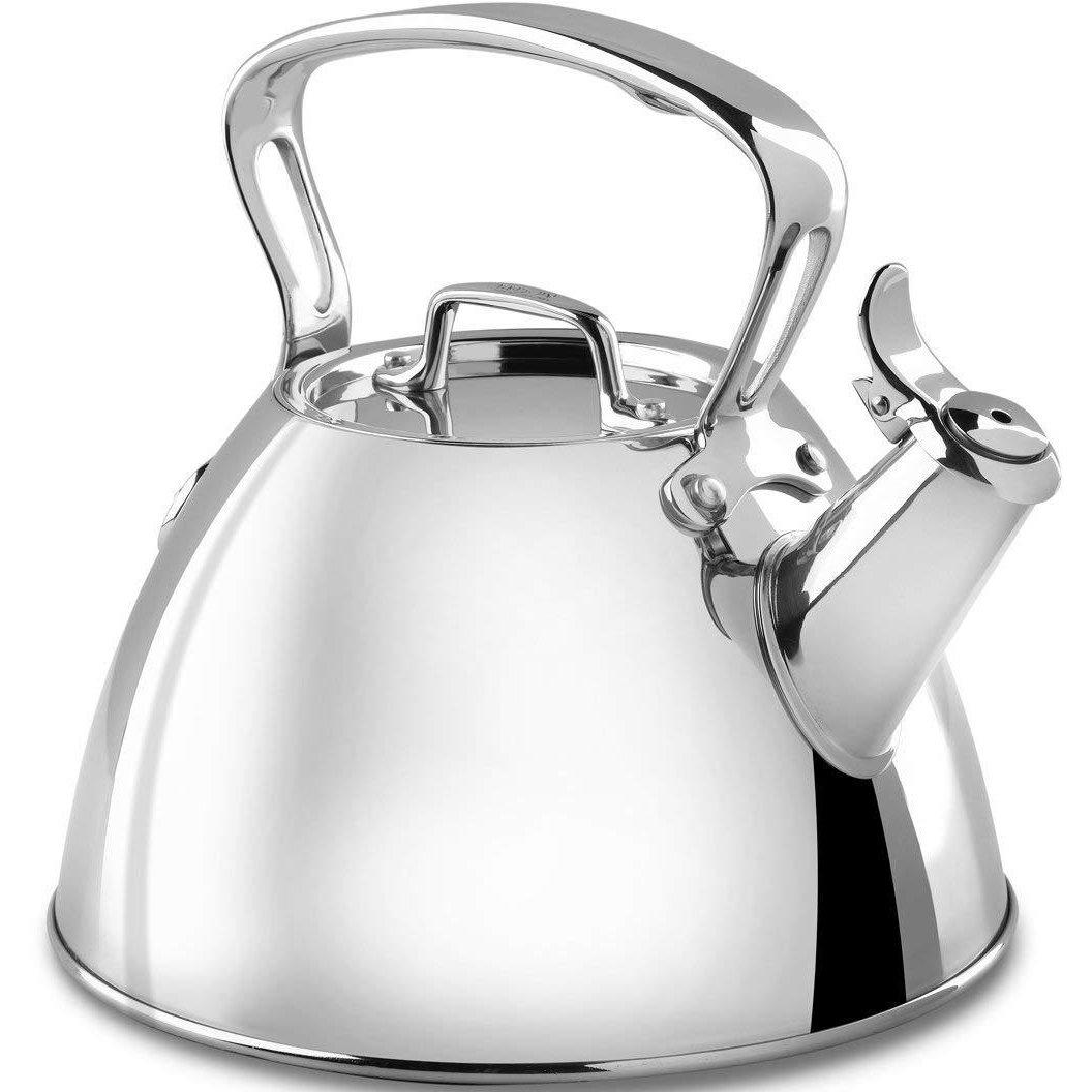 All-Clad  2qt Stainless Steel Kettle Front View Canada