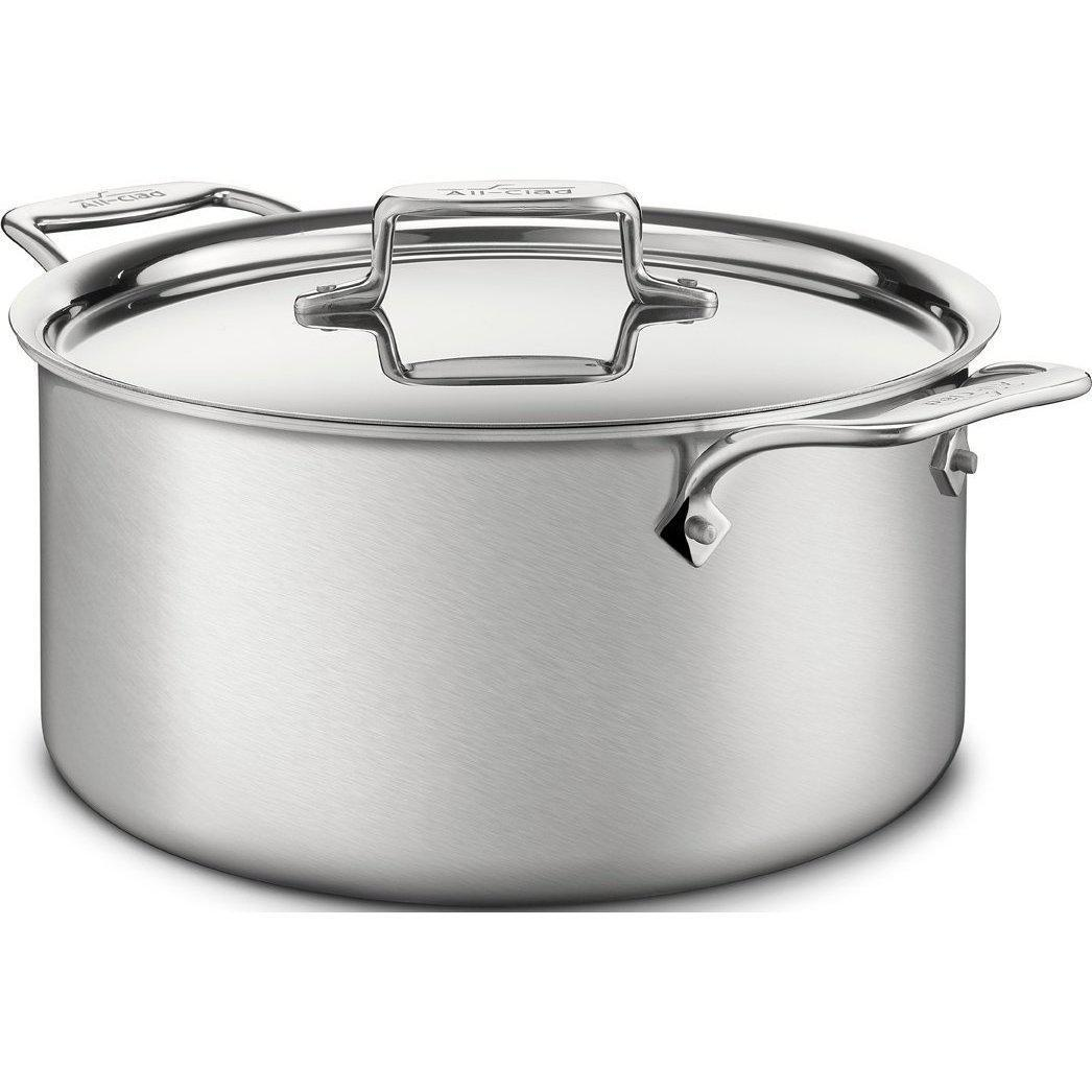 All-Clad D5 - 8 qt. Stainless Steel Brushed Stock Pot w/ Lid