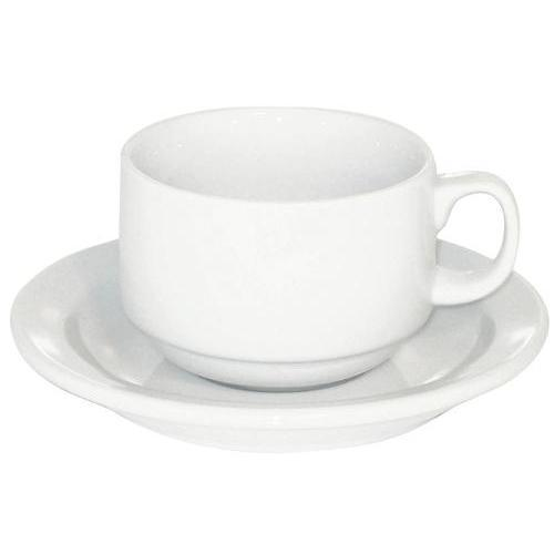 Armand Lebel 12 Piece Cappuccino Cup & Saucer Set - Plain White Canada