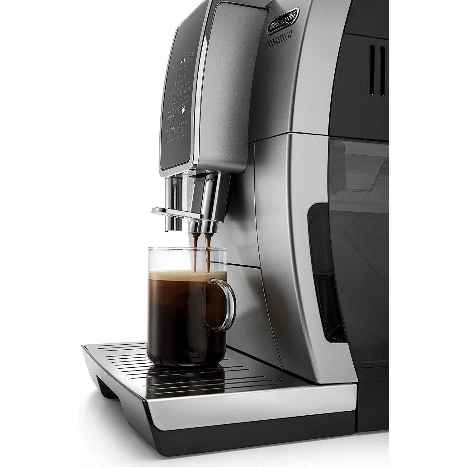 DeLonghi ECAM35025SB Dinamica TrueBrew Side View Canada