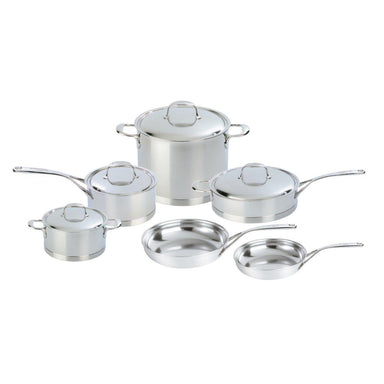 Demeyere Atlantis 10 Piece 18/10 Stainless Steel Cookware Set