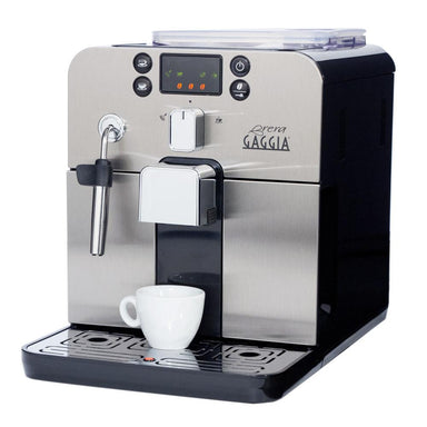 Gaggia Brera Black Espresso Machine Side View Canada