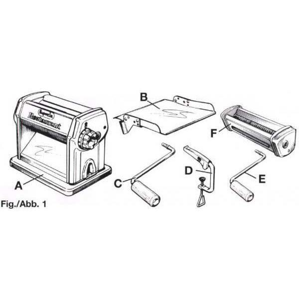 Imperia R220 Pasta Maker Diagram Canada