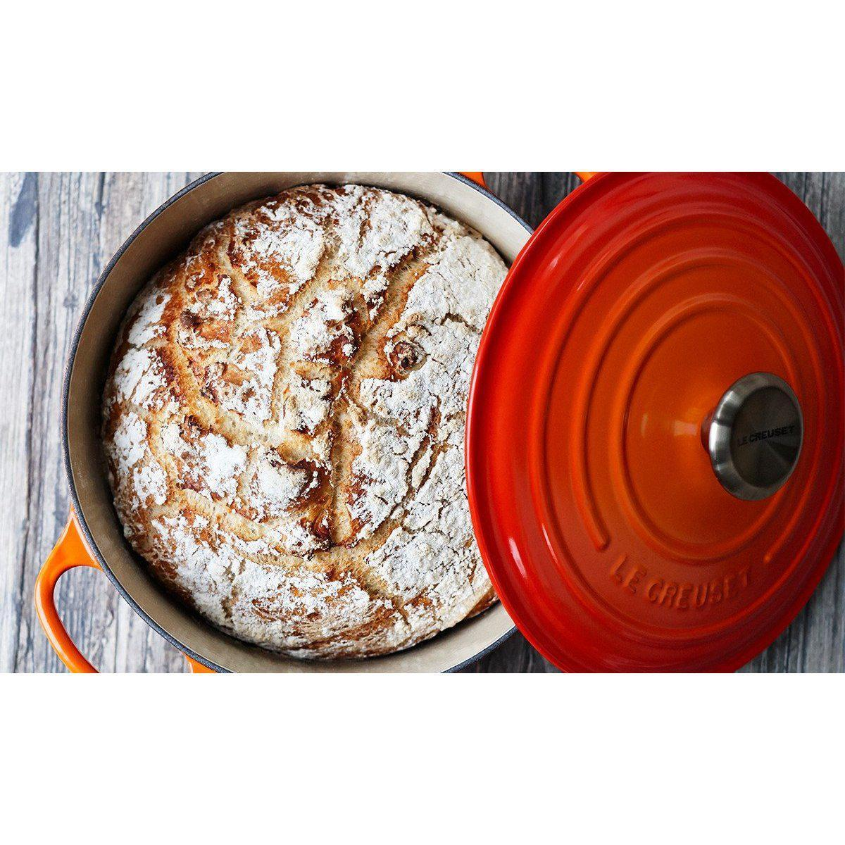 Interior Enamel Le Creuset 4.2L Flame French/ Dutch Oven (24cm) - LS2501-242 Canada