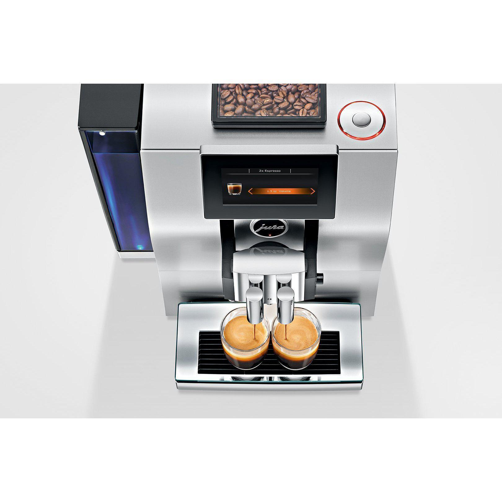 Jura Z8 Super Automatic Espresso Machine Top View