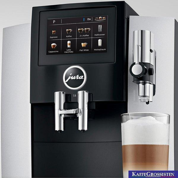 Jura S8 Moonlight Silver Espresso Machine Latte Canada