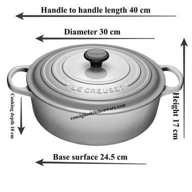Le Creuset - 6.2L Blueberry Shallow Risotto French / Dutch Oven (30CM) - LS2552-3092