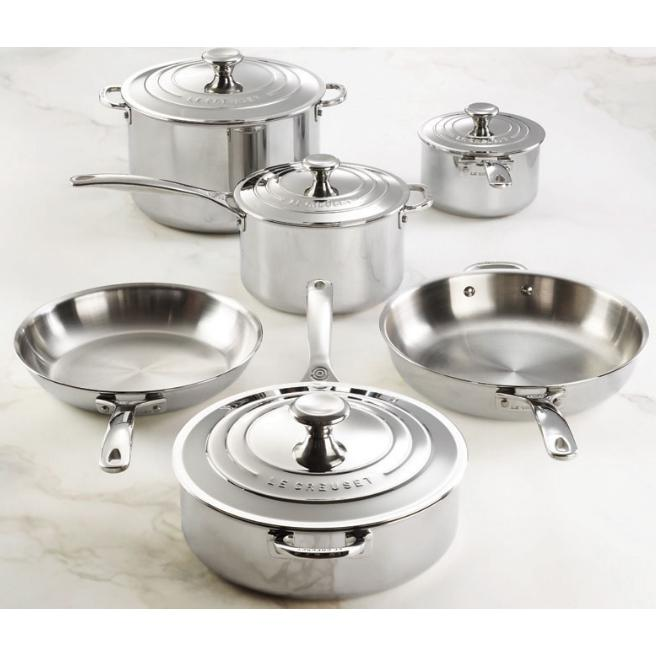 Le Creuset 10 Piece Stainless Steel Set (New Design) -SSP14110