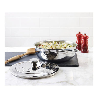 Le Creuset 3.3L-3.5 qt. Stainless Steel Chef's Pan 24cm -SSP6100-24 Canada