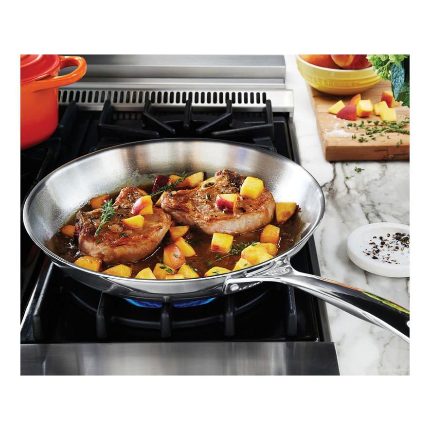 Le Creuset 30 cm Stainless Steel Frying Pan 12 on Gas Stove Canada