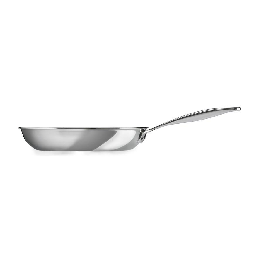 "Le Creuset Stainless Steel Frying Pan  - 26 CM / 10""   Side View Canada"