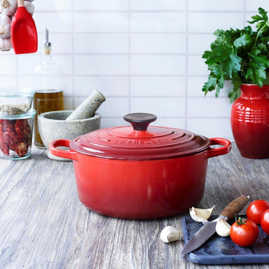 Le Creuset Cherry Red Round Display Canada
