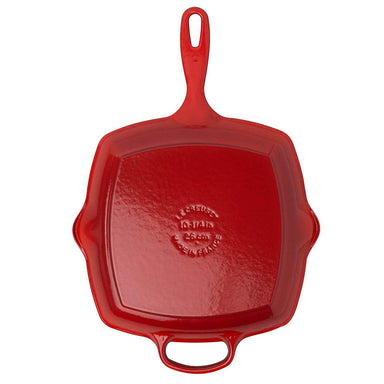 Le Creuset Cherry Red Square Skillet Bottom Canada