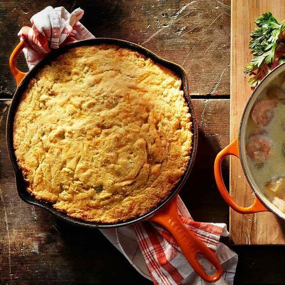 Le Creuset Flame Round Skillet Corn Bread Canada