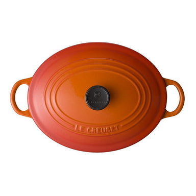 Le Creuset Flame Oval Enamel Coated Top View Canada