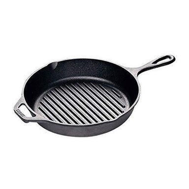 "Lodge - 10.25"" Pre-Seasoned Cast Iron Round Grill Pan (25cm) Canada"