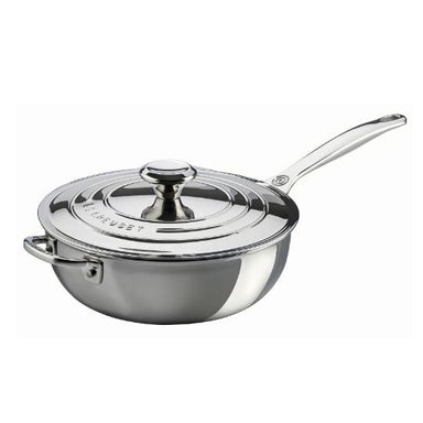 Le Creuset 3.3L/3.5 qt. Stainless Steel Chef's Pan (24cm) -SSP6100-24
