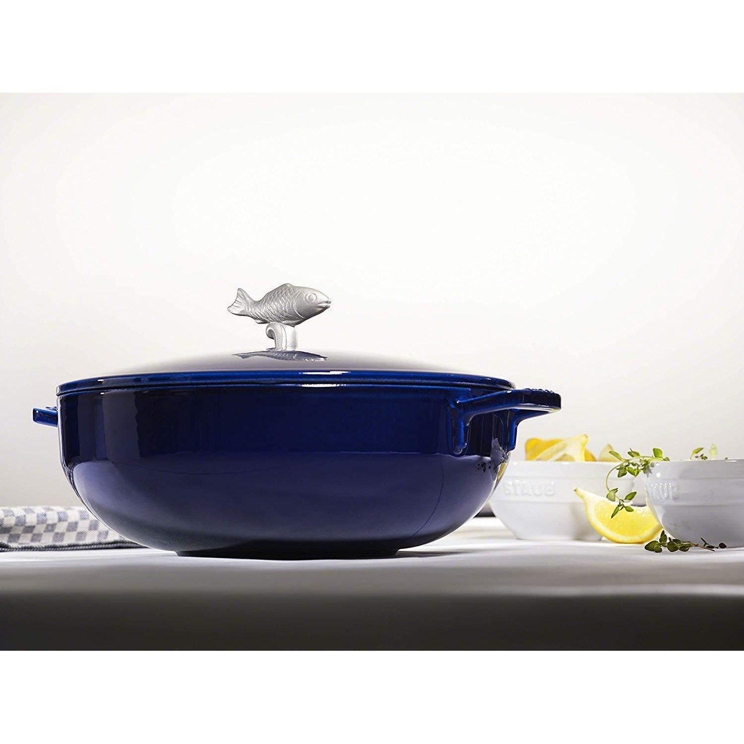 Staub - 4.75L Dark Blue Bouillabaisse Pot with Fish Knob