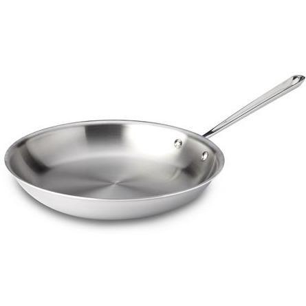 "All-Clad - 12"" Mirror Finish Stainless Steel Fry Pan-Consiglio's Kitchenware"