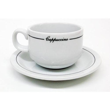 Armand Lebel Cappuccino 12 Piece Cup & Saucer Set - Short Line Design-Consiglio's Kitchenware