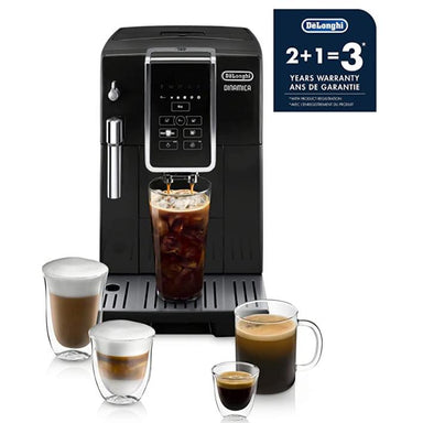 DeLonghi ECAM35020B Dinamica TrueBrew Super Automatic Espresso Machine Black 3 Year Warranty
