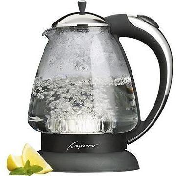 Capresso H20 Plus Glass Cordless Kettle-Consiglio's Kitchenware