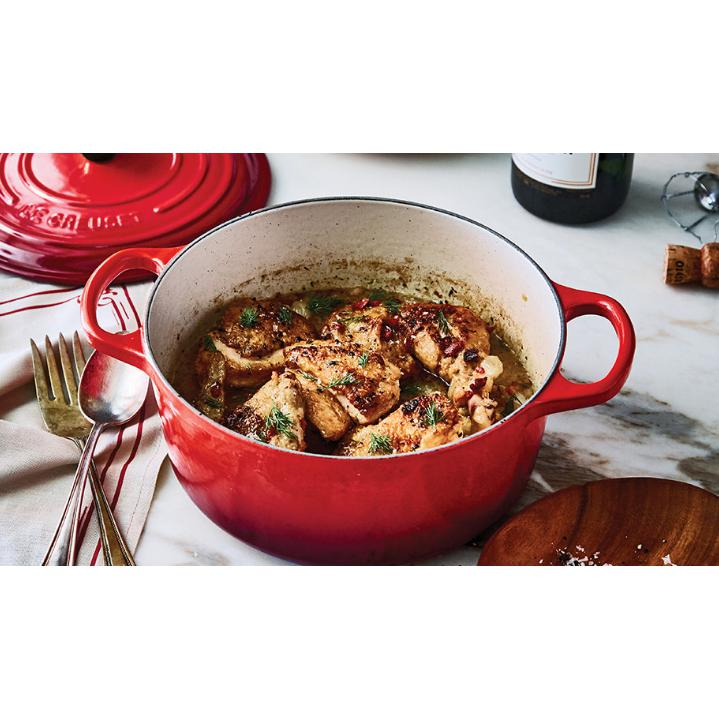 Le Creuset 4.2L Cherry Red French/ Dutch Oven (24cm) - LS2501-2467